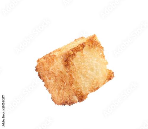 Fotografía Tasty crispy fried crouton on white background