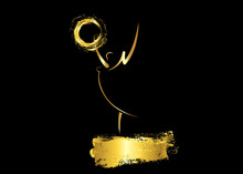 Golden Silhouette Statue Troph...