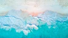 Tropical Beach From The Air Wi...