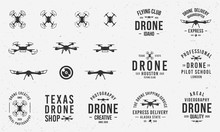 Collection Of Drone Logos, Emb...
