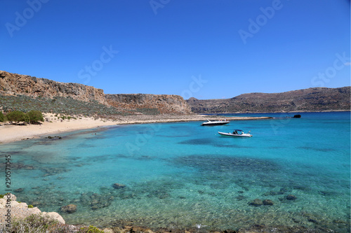 Foto op Aluminium Bleke violet Gramvousa island and Balos bay are famous beautiful resort places in Crete. Greece summer vacation.