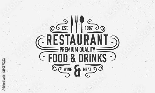 Fototapeta  Vintage restaurant logo template