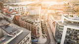Fototapeta Londyn - Katowice- Panorama miasta- Kamienice- Śląsk, Polska