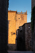 Photography in the old town of Caceres. Extremadura. Spain.