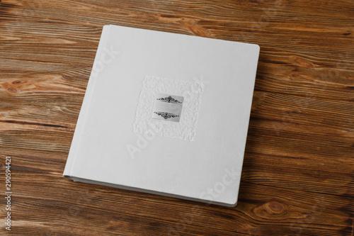 photo book with white   fabric cover Fototapeta