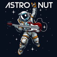 Astronaut Illustration Tee Shirt Logo Wallpaper Graphic Design Print