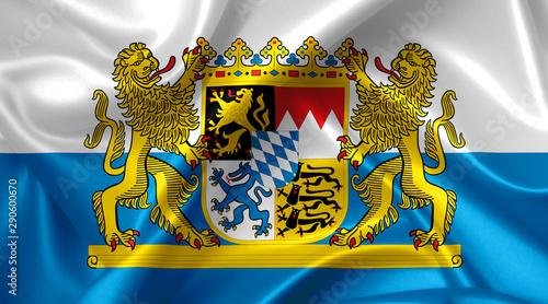 Fototapeta  coat of arms of bavaria - bavaria flag