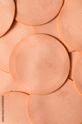 Raw Pork Bolgna Meat Slices