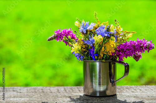 beautiful romantic composition with flowers. greeting card, symbol of tenderness. spring or summer season. copy space. spring background
