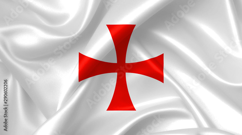Fotografía knights templar cross flag