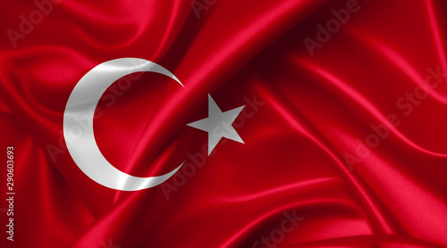turkish flag Fototapet