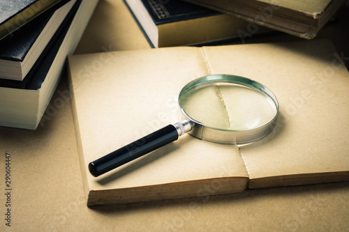 Searching Information From the Books Fototapete