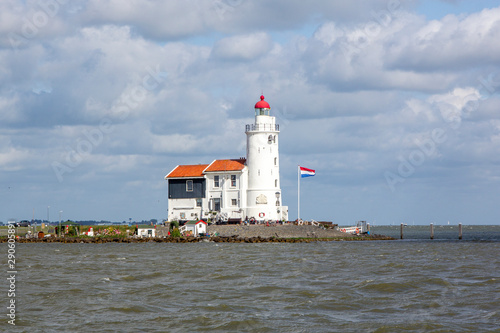 Door stickers Horses Traditional lighthouse 'Het Paard van Marken' in Marken the Netherlands