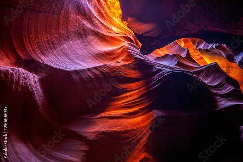Spoed Fotobehang Antilope Antelope Canyon; slot canyon