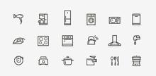 Household Appliances Icon Set....
