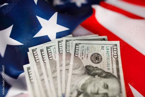 Obraz na plátně  American Dollars Cash Money