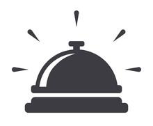 Service Bell Icon Flat Vector Illustration