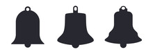 Church Bell Silhouettes Vector Illustration