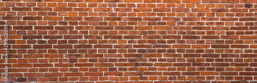 Photo old red brick wall background