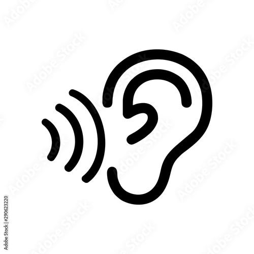 Obraz na plátne  Ear outline icon logo