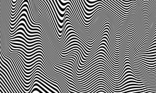 Optical Illusion Striped Wrapped Background Vector Design.