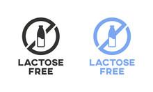 Lactose Free Icon Sign Vector Design. Lactase Deficiency Mark.