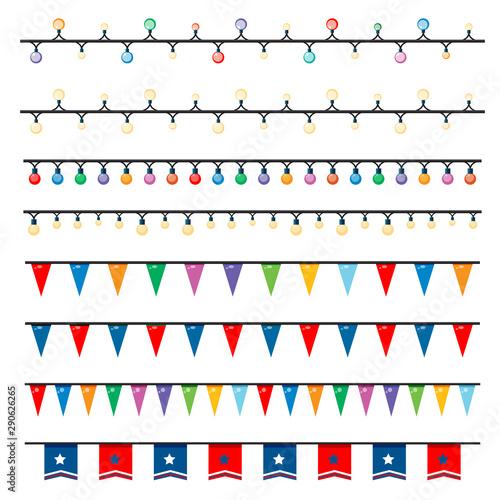 Keuken foto achterwand Kids Different patterns of lights and flags