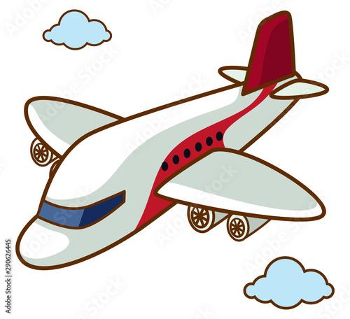 Fotobehang Kids Airplane flying in the sky