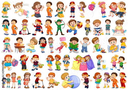 Canvas Prints Kids Kids in large group acting our varoous roles