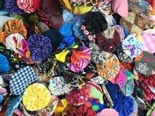 Multi Colored Fabric Yo Yo