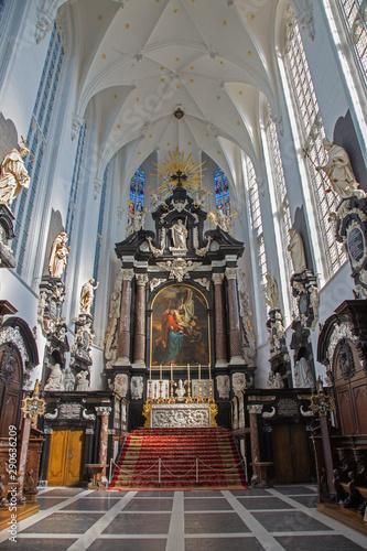ANTWERP, BELGIUM - SEPTEMBER 5: Presbytery of St. Pauls church (Paulskerk) on September 5, 2013 in Antwerp, Belgium