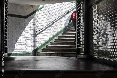Paris subway passage and stairs