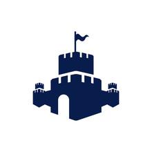 Creative Castle Fortress Logo ...