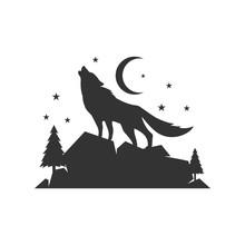 A Lone Wolf Logo Design Backgr...