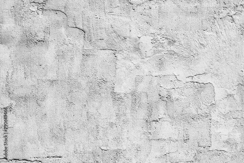 Poster Vieux mur texturé sale white and gray textured plaster on the wall