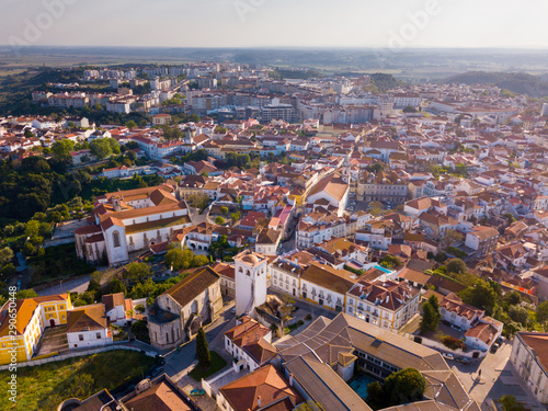 Santarem district with buildings and landscape, Portugal Tablou Canvas