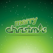 Green Glossy Merry Christmas Text Design Illustration