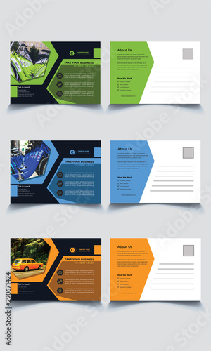 Obraz na plátně  Multipurpose Modern Corporate Post Card Template