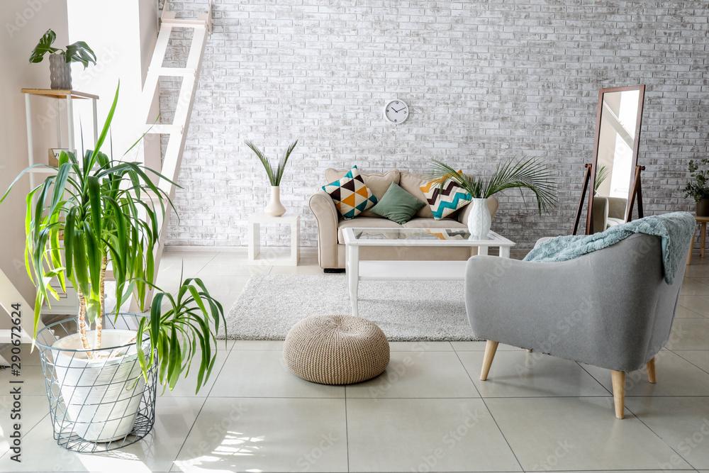 Fototapety, obrazy: Beautiful interior of light modern room
