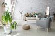 Beautiful interior of light modern room