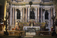 Naples, Italy - September 16, 2019: The Chapel Of The Treasure Of San Gennaro In The Cathedral Of Naples