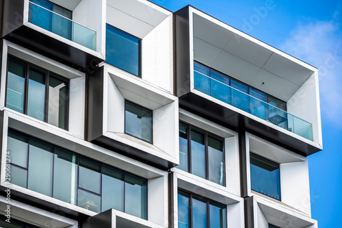 Modular facade design of a multi-storey building Canvas Print