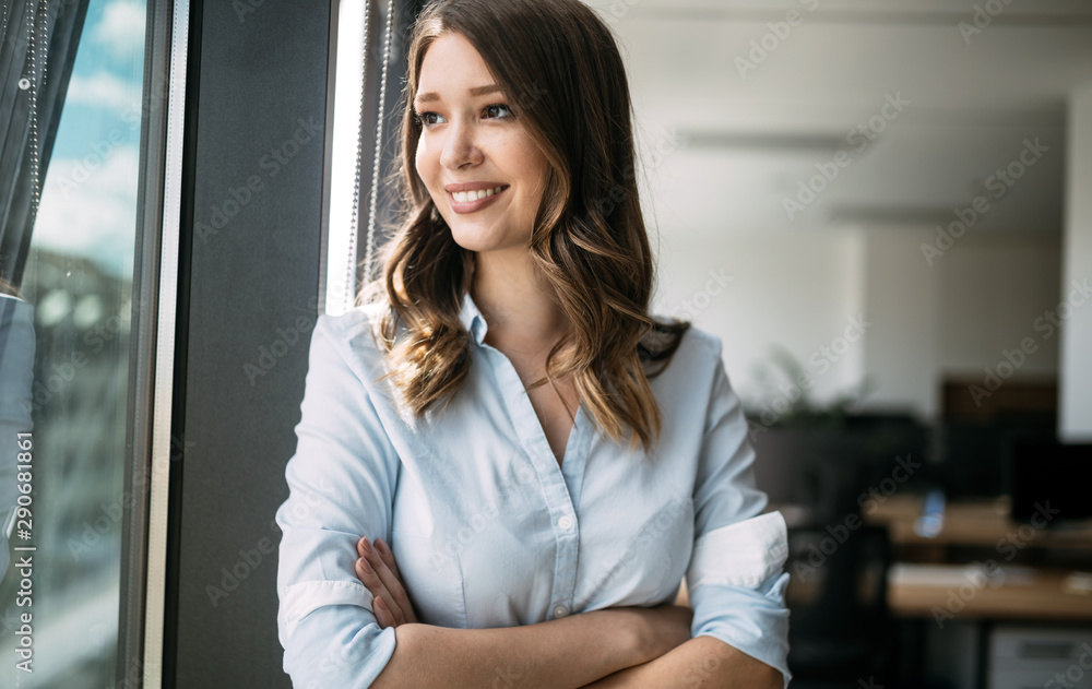Fototapeta CEO owner leader company staff member portrait, possibly finance, accountant, manager