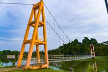 Suspension Bridge In Somdet Phra Si Nakarin 95 Park, Trang.