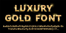Shiny Modern Gold Font Isolate...