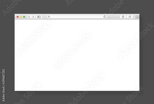 Fotomural Modern browser window design isolated on dark grey background