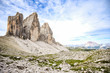 Tre Cime, Landscape of Dolomites mountains in South Tyrol, Italy.