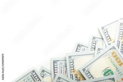 Fotografie, Tablou  money background. american hundred dollar bills. copy space