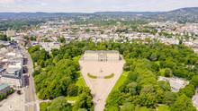 Oslo, Norway. Royal Palace. Slottsplassen. Palace Park, From Drone