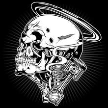 Skull Motor Piston Shock Ring ...